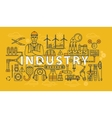 Industry thin line industrial banner vector image vector image