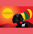 juneteenth freedom day silhouette african vector image vector image