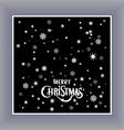 Merry Christmas typography handwriting background vector image vector image