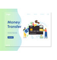 money transfer website landing page design vector image vector image