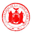 new york seal stamp vector image vector image