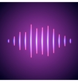 Nightlife styled glowing neon music wave vector image vector image