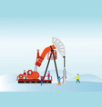 oil pump with oil worker vector image