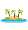 Palm island vector image vector image
