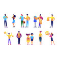 people of different generations and businessmen vector image