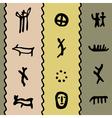 petroglyph pattern vector image