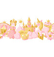 princess party items seamless pattern vector image vector image