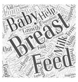 Reasons To Breast Feed Word Cloud Concept vector image vector image