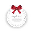romantic greeting card template with ribbon vector image vector image