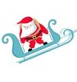 Santa skydiving vector image