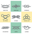 sea knots - outline icons vector image