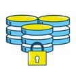 security padlock support cartoon vector image vector image