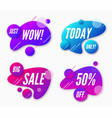 set abstract trendy dynamic style compositions vector image vector image