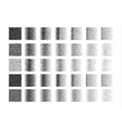 Set of 35 square stipple pattern for design Tile vector image