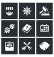 Set of Prison Icons Prisoner Tattoo vector image vector image