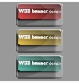 Set of realistic web banners rectangular form vector image