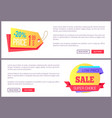 set sale special offer order now web poster vector image vector image