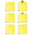 set yellow notes vector image