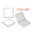 Stock template box for pizza vector image vector image