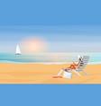 summer sea beach holiday travel vacation young vector image vector image