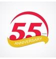 Template Logo 55 Anniversary vector image vector image