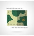 Terrain map flat color design icon vector image