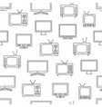 tv seamless pattern vector image vector image