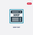 two color serif font icon from technology concept vector image