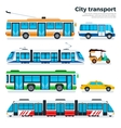 Types of city transport isolated on white vector image vector image