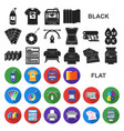 typographical products flat icons in set vector image