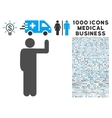 Vote Pose Icon with 1000 Medical Business Symbols vector image vector image