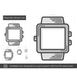 Wearable device line icon vector image