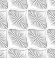 White diagonal wavy net layered seamless pattern vector image vector image