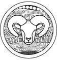 Zodiac sign Aries vector image vector image