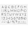 Font Flat paper vector image
