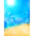 Blurred summer tropical background with palms vector image
