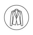 woman jacket icon line vector image