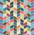 Seamless geometric chevron color textile pattern vector image