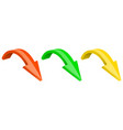 3d colored arrows down shiny icons vector image vector image