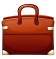 A brown handbag vector image