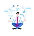 a manager in office vector image