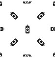 aluminum can pattern seamless black vector image vector image