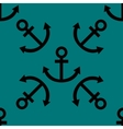 Anchor web icon flat design Seamless pattern vector image