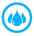 aqua icon with drop vector image vector image