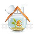 Aquarium home vector image