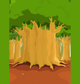 big trees in the forest vector image vector image
