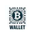 bitcoin wallet vector image vector image