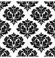 black and white arabesque seamless pattern vector image vector image