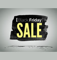 black friday sale advertisement label vector image vector image