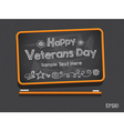 Blackboard Valentines Day Background vector image vector image
